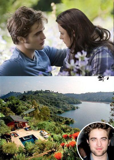 Uite cuibusorul de nebunii al lui Robert Pattinson si Kristen Stewart