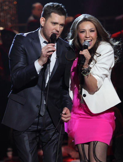 """Feliz Navidad"": duet cu Thalia si Michael Buble - VIDEO"