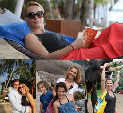 In Thailanda, Andreea Esca a petrecut pentru prima data Revelionul pe plaja