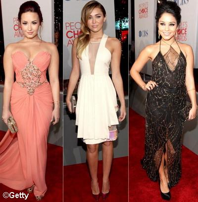People's Choice Awards: Demi Lovato, Miley Cyrus si Vanessa Hudgens demonstreaza ca si tinerele rebele pot fi elegante pe covorul rosu - FOTO