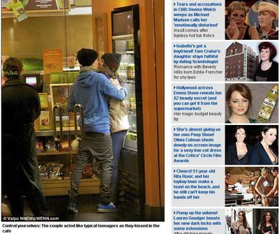 Justin Bieber si Selena Gomez sunt romantici pana si in supermarket