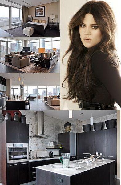 Vezi cum arata  apartamentul in care sta Khloe Kardashian  - FOTO