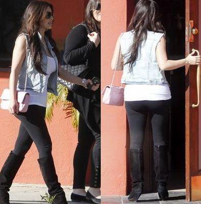 Kim Kardashian si-a scos posteriorul imens la vedere -  FOTO