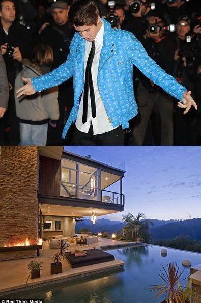 Justin Bieber si-a facut cadou de ziua lui o vila de lux in Hollywood Hills - FOTO