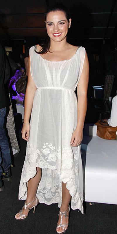 Iti place cum s-a imbracat Maite Perroni la Saptamana Modei din Mexic?