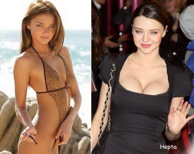 Miranda Kerr - inainte si dupa nastere. Vezi o ... mare diferenta?
