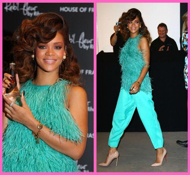 Rihanna - dezastrul vestimentar al verii la lansarea primului ei parfum!