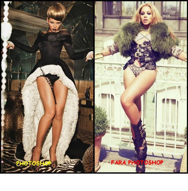 Pentru prima oara, Beyonce renunta la subtierea in Photoshop: isi arata coapsele uriase intr-un pictorial