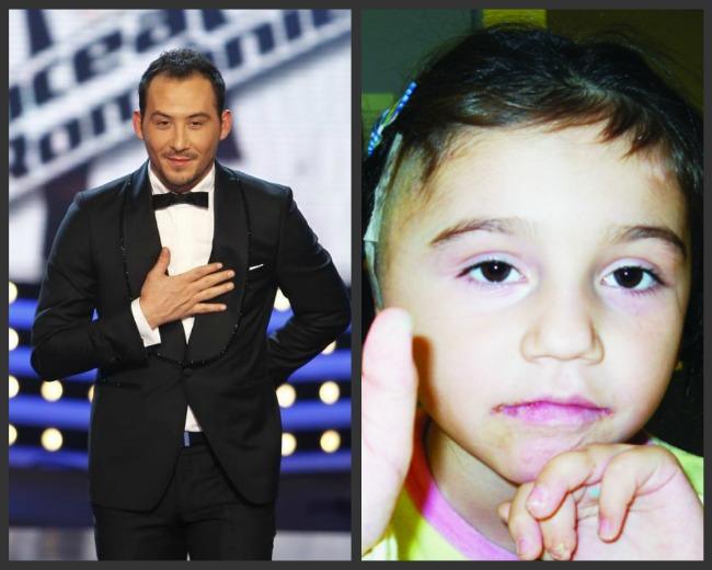 EMOTIONANT!  Vocea Romaniei , Stefan Stan, doneaza o parte din bani unei fetite care a fost operata de 30 de ori!