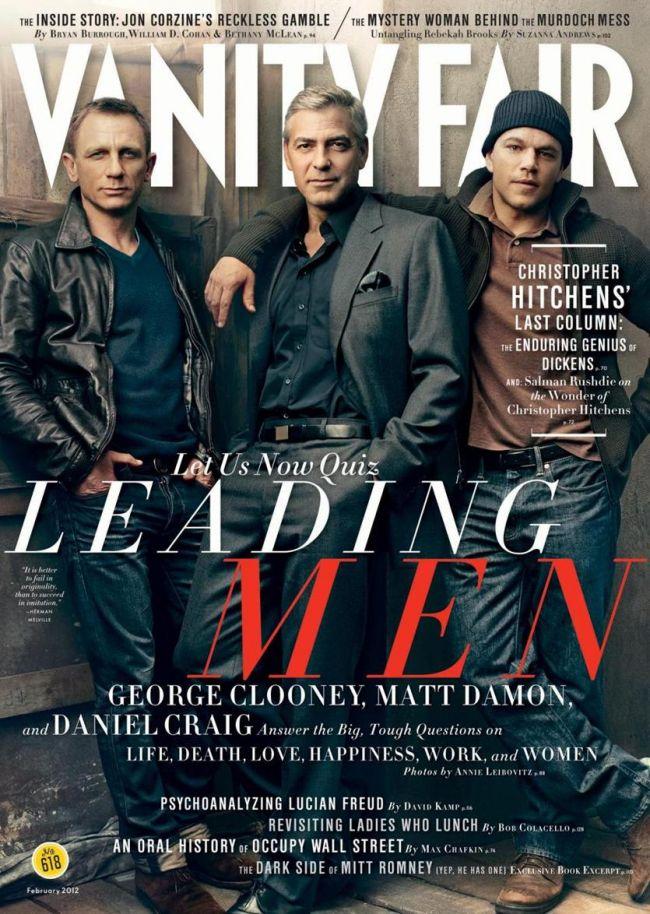 Barbatii fatali ai Hollywoodului pe coperta Vanity Fair! Vezi ce raspunsuri amuzante au dat George Clooney, Daniel Craig si Matt Damon!