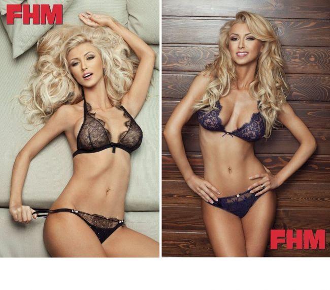 Andreea Balan, sexy in lenjerie intima pentru FHM. Iti place cum arata?