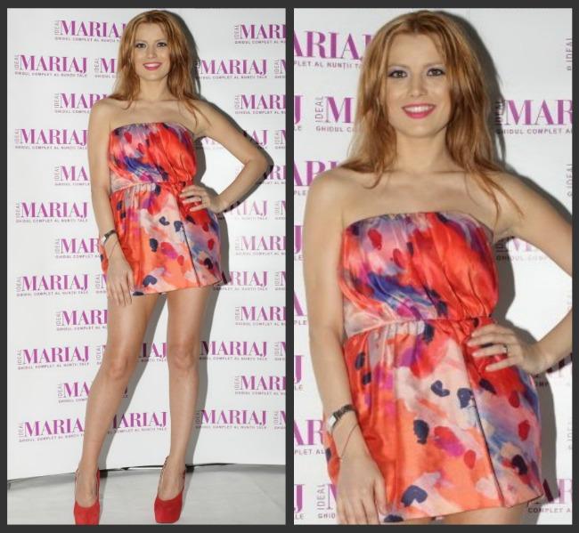 Look-ul zilei: Elena Gheorghe intr-o rochie cat o bluza de scurta! Iti place sau exagereaza?