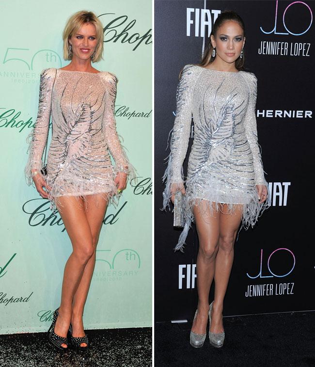 Aceeasi rochie, doua sex-simboluri. Cine o poarta mai bine?