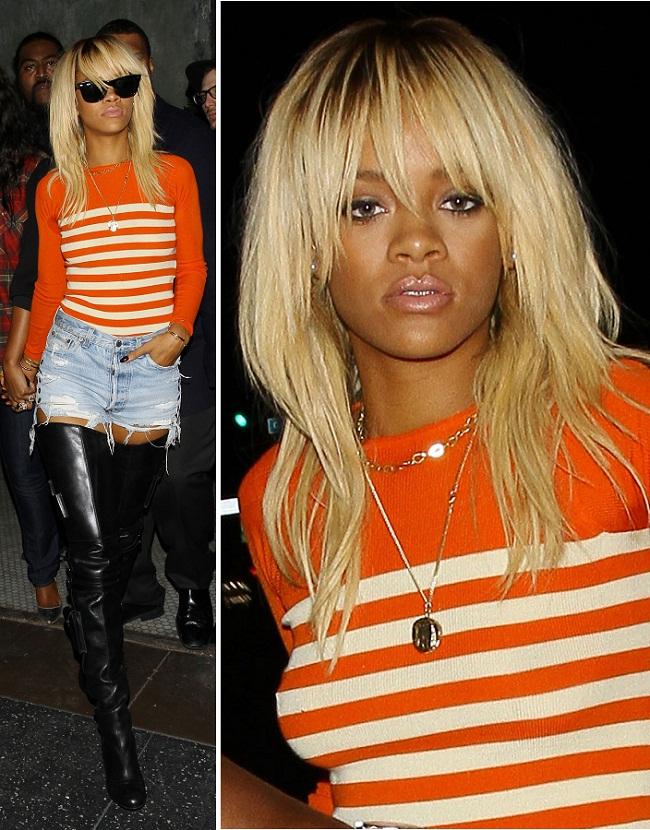 Rihanna a renuntat la look-ul natural. S-a vopsit blonda. Iti place?