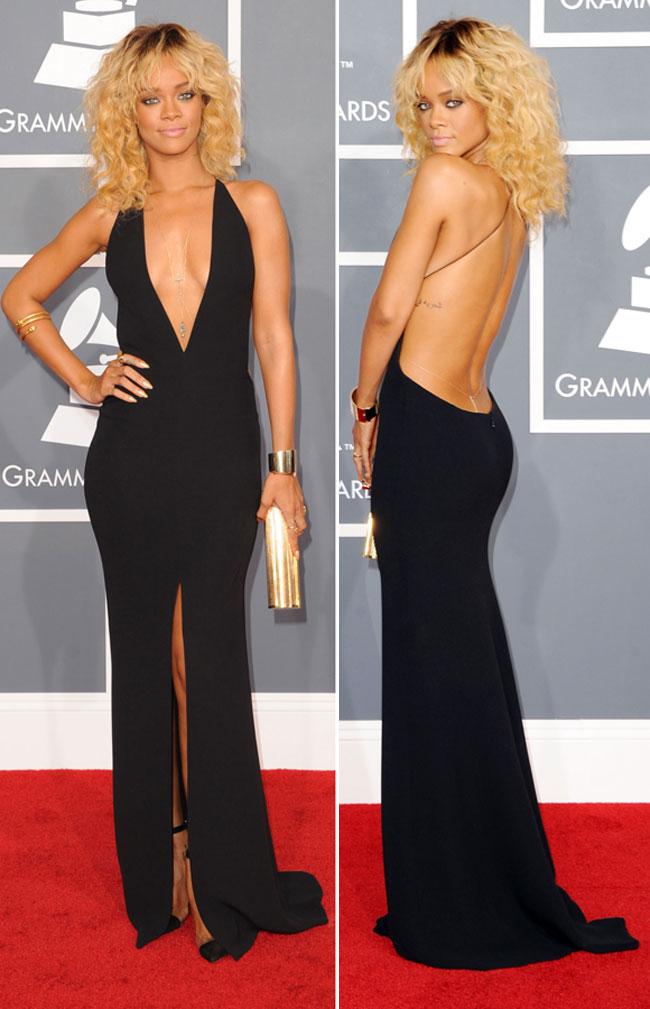Rihanna, cea mai sexy aparitie la premiile Grammy. Iti place?