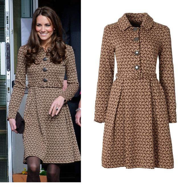 Outfit de vedeta: incearca o rochie tip mantou precum cea purtata de Kate Middleton
