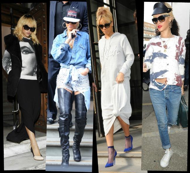 Rihanna - trendsetter sau dezastru vestimentar? 6 tinute care au uimit Londra