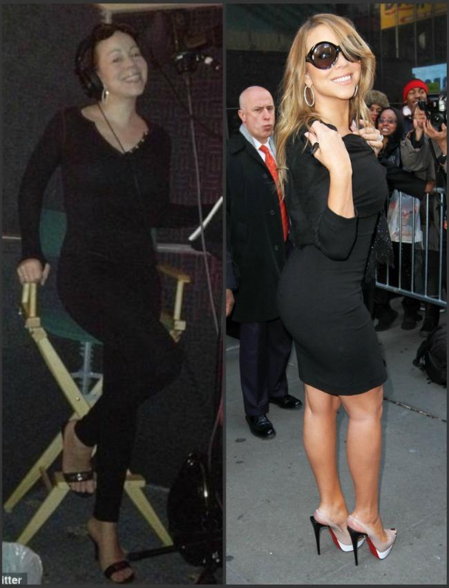 Fara machiaj si haine fancy, Mariah Carey este la ani lumina de aspectul de diva cu care ne-am obisnuit