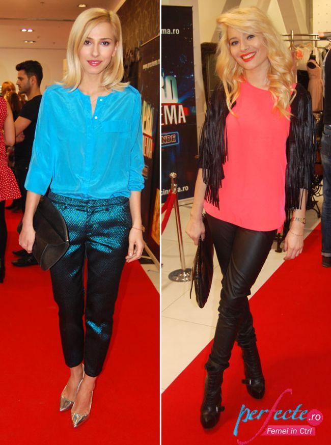 Dana Rogoz si Laura Cosoi, chic in culori tari. Care tinuta iti place mai mult?