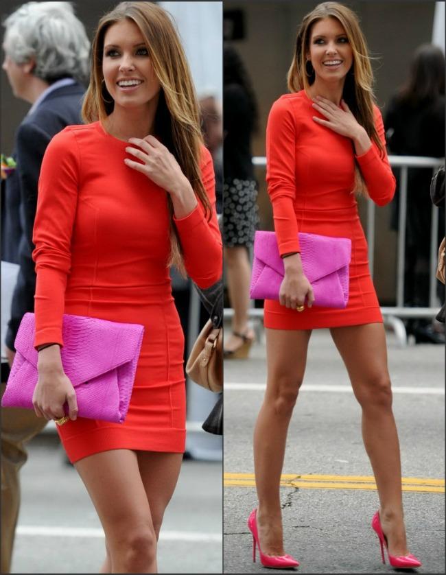 Look-ul zilei: Reality starul Audrina Patridge intr-o combinatie de culori tari. Iti place sau ti se pare exagerata?