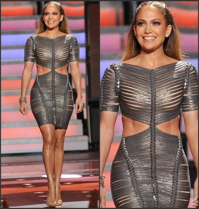 Jennifer Lopez, excentrica intr-o rochie transparenta si decupata la American Idol