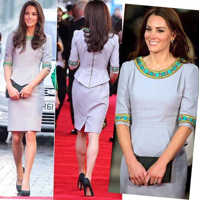 Fashionista convinsa! Ducesa de Cambridge, intr-o rochie cu motive africane la premiera filmului African Cats