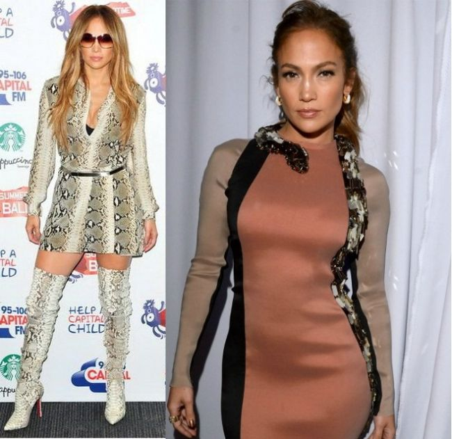Sarpele se intoarce!  Jennifer Lopez cu un sarpe imens de gat... Sexy sau kitschos?