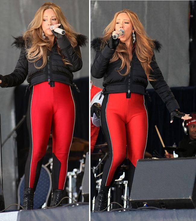Gafa de neiertat pentru o diva. Mariah Carey si-a aratat zonele intime in niste colanti mult prea mulati