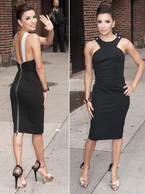 Eva Longoria, mai sexy ca niciodata intr-o rochie mulata, cu spatele gol, creata de Victoria Beckham