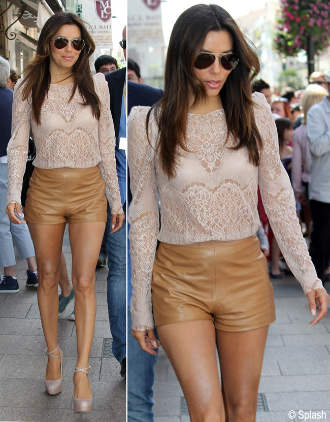 E mignona, dar super sexy. Eva Longoria si-a aratat picioarele in Cannes