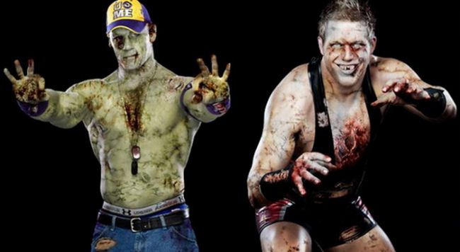 "<span style=""color: rgb(255, 0, 0);"">SUPER-FOTO: </span>Halloween in stil WWE! Vezi cum arata Superstarurile in varianta ... zombi!"